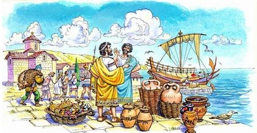 Греческие колонии на берегах Средиземного и Чёрного морей